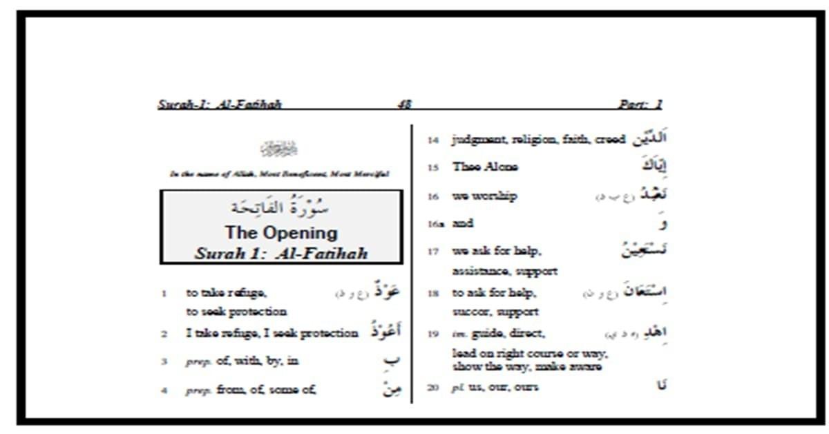 تحميل قا موس طرجمة كلمات القرآن  بلإنجليزية