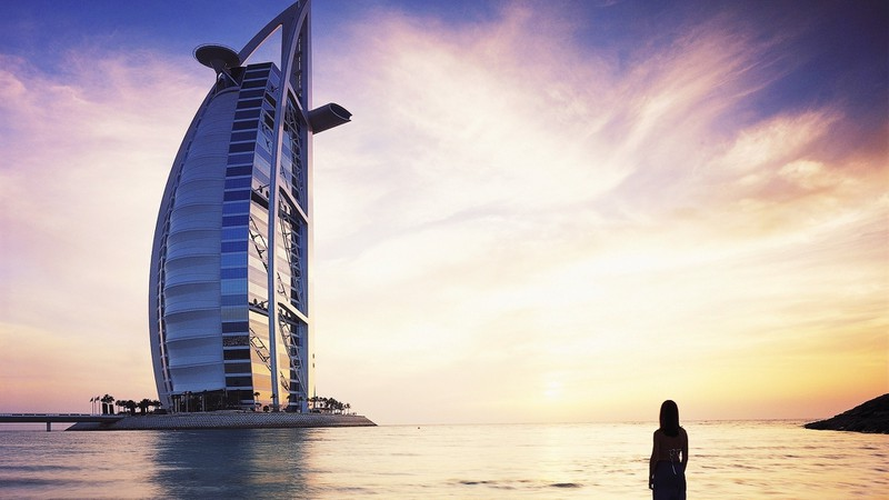 women water coast architecture buildings Dubai skyscapes_Burj_Al_Arab_sea_1920x1080