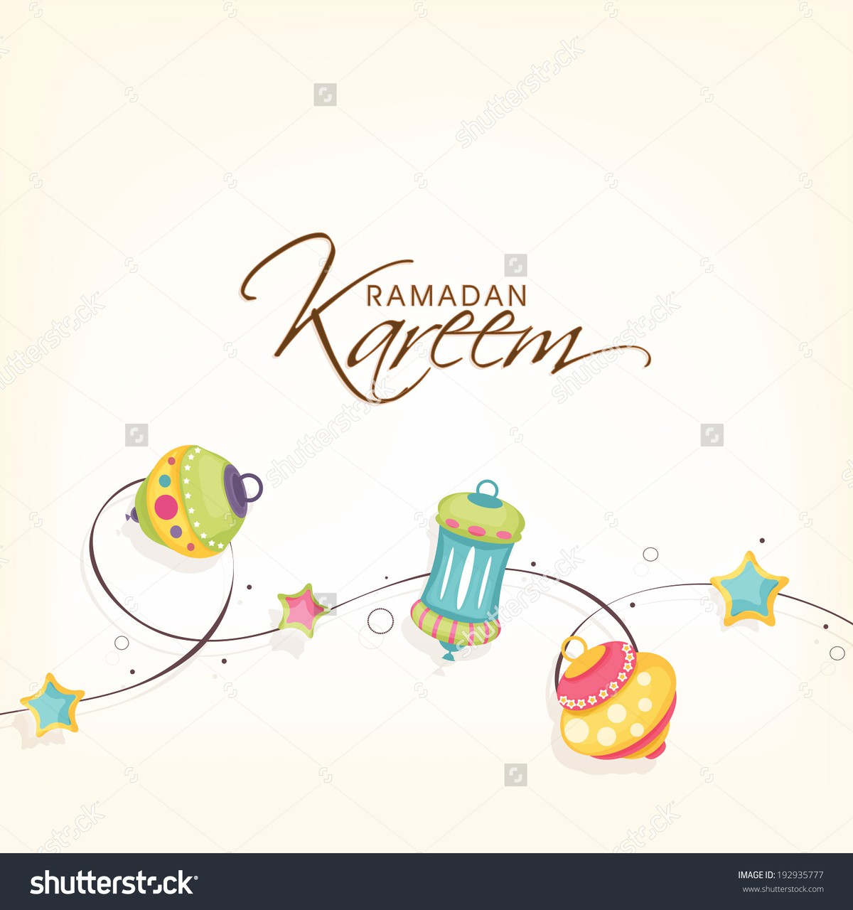 stock-vector-beautiful-greeting-card-design-with-colourful-different-styles-lanterns-or-lamps-with-st