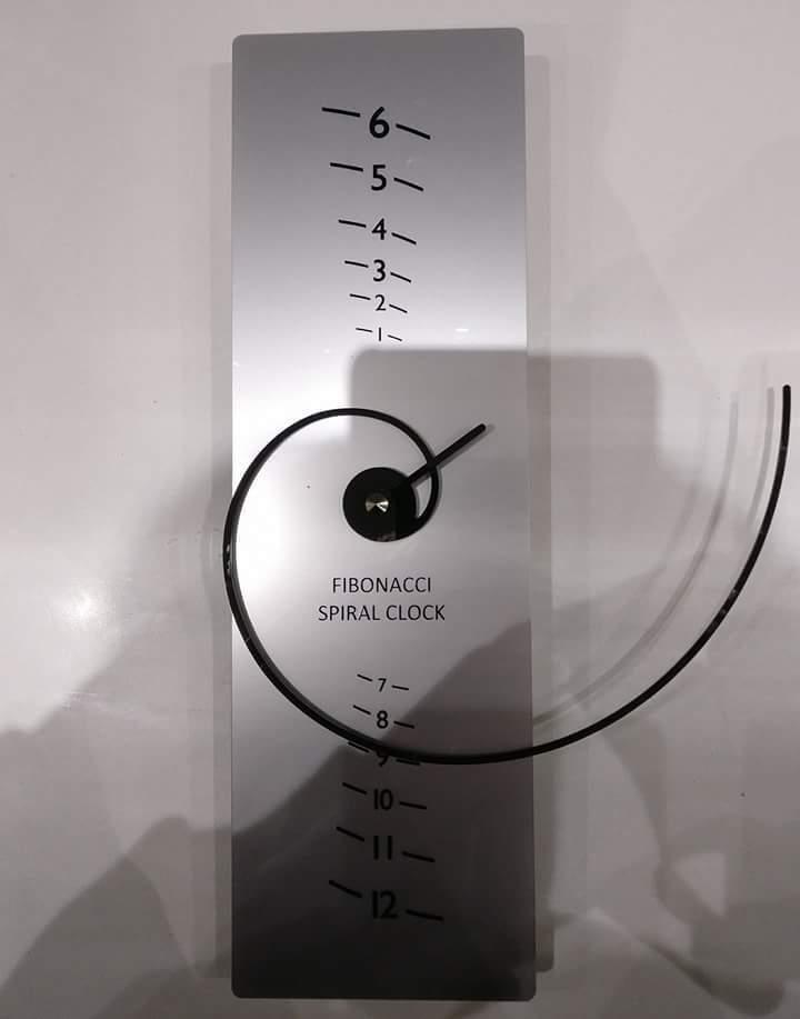 ساعة فيبوناتشي المذهلة..