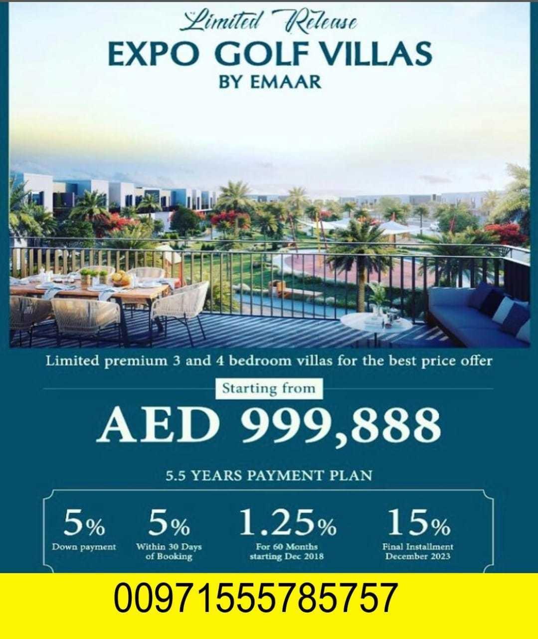 فيلا في دبي بسعر مميز جدا يبدأ السعر من 999,888 درهم فقط L