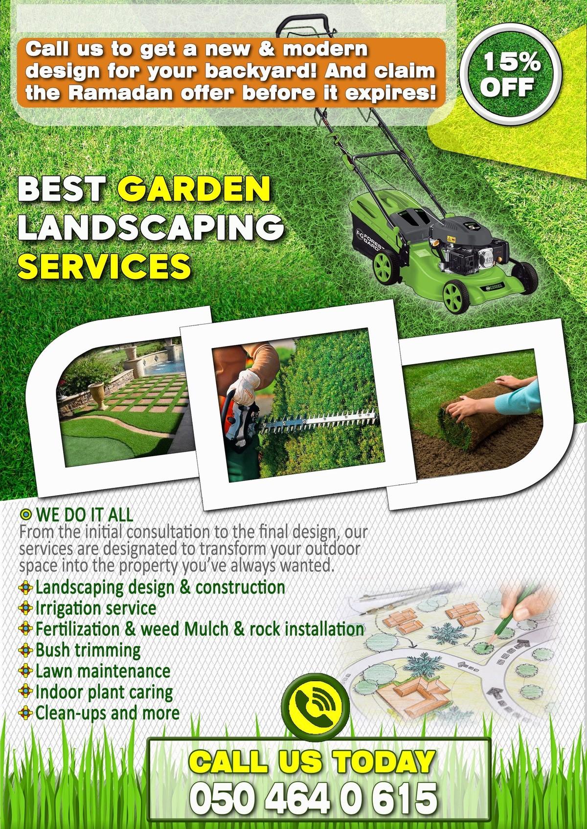 افضل خدمات تنسيق حدائق