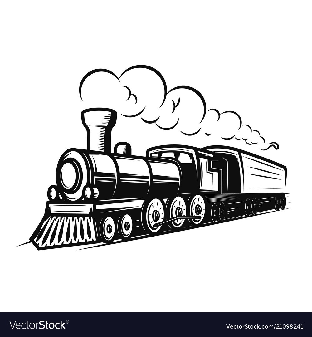retro-train-isolated-on-white-background-design-vector-21098241