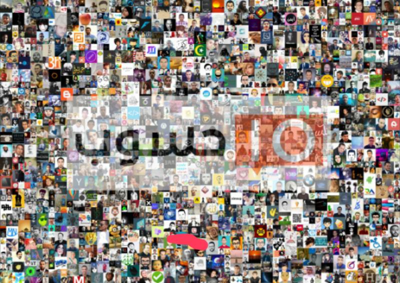 موزاييك لأفضل 1500 عضو في حسوب IO