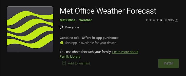Met Office Hava Tahmini BBC Hava Durumu Uygulamaları