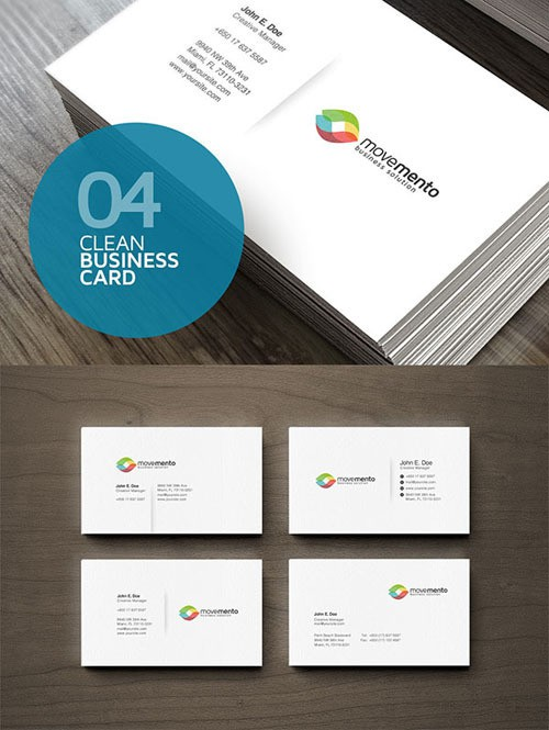 4-Clean-Business-Cards-PSD-Template