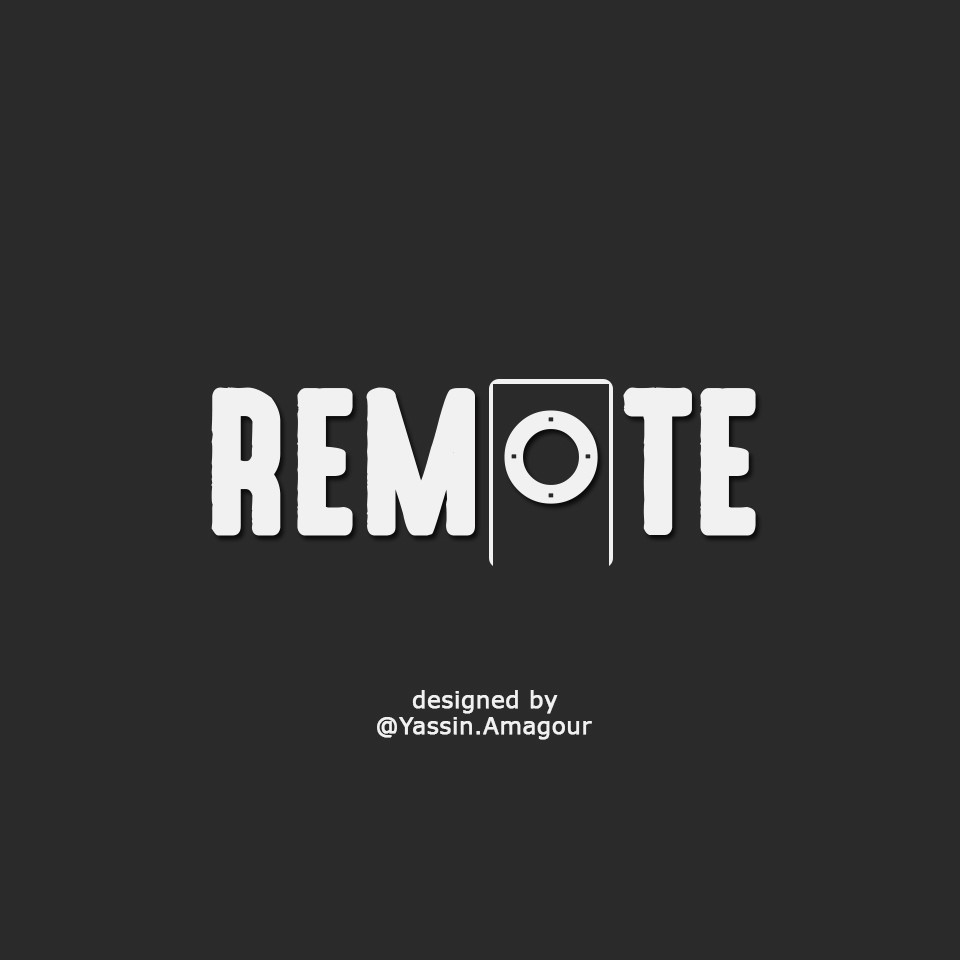 REMOTE . // designed by Yassin.Amagour