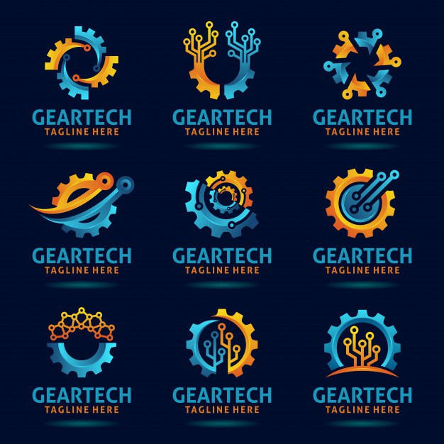 collection-gear-tech-logo-design_92167-19