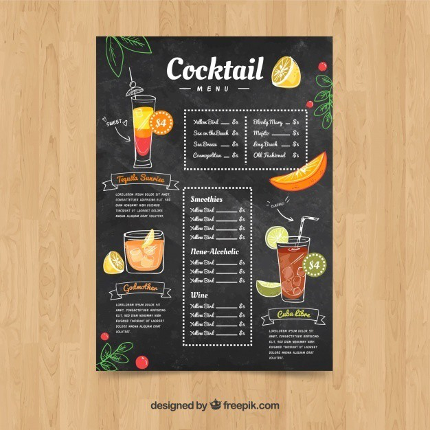 cocktail-menu-template-in-hand-drawn-style_23-2147774475