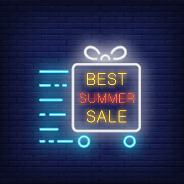 best-summer-sale-neon-sign-glowing-text-in-frame-gift-box-on-wheels-in-motion-night-bright-advert_126