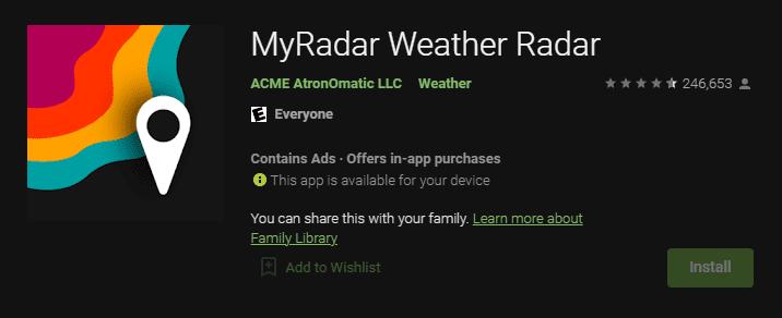 MyRadar Hava Durumu Radarı