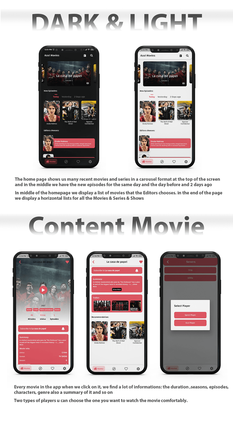 Movies App - Admin panel ( movies & series & tv shows...) Flutter - 3