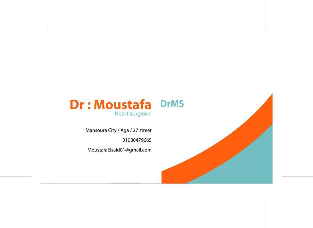 BUSINESS CARDS for Dr Moustafa