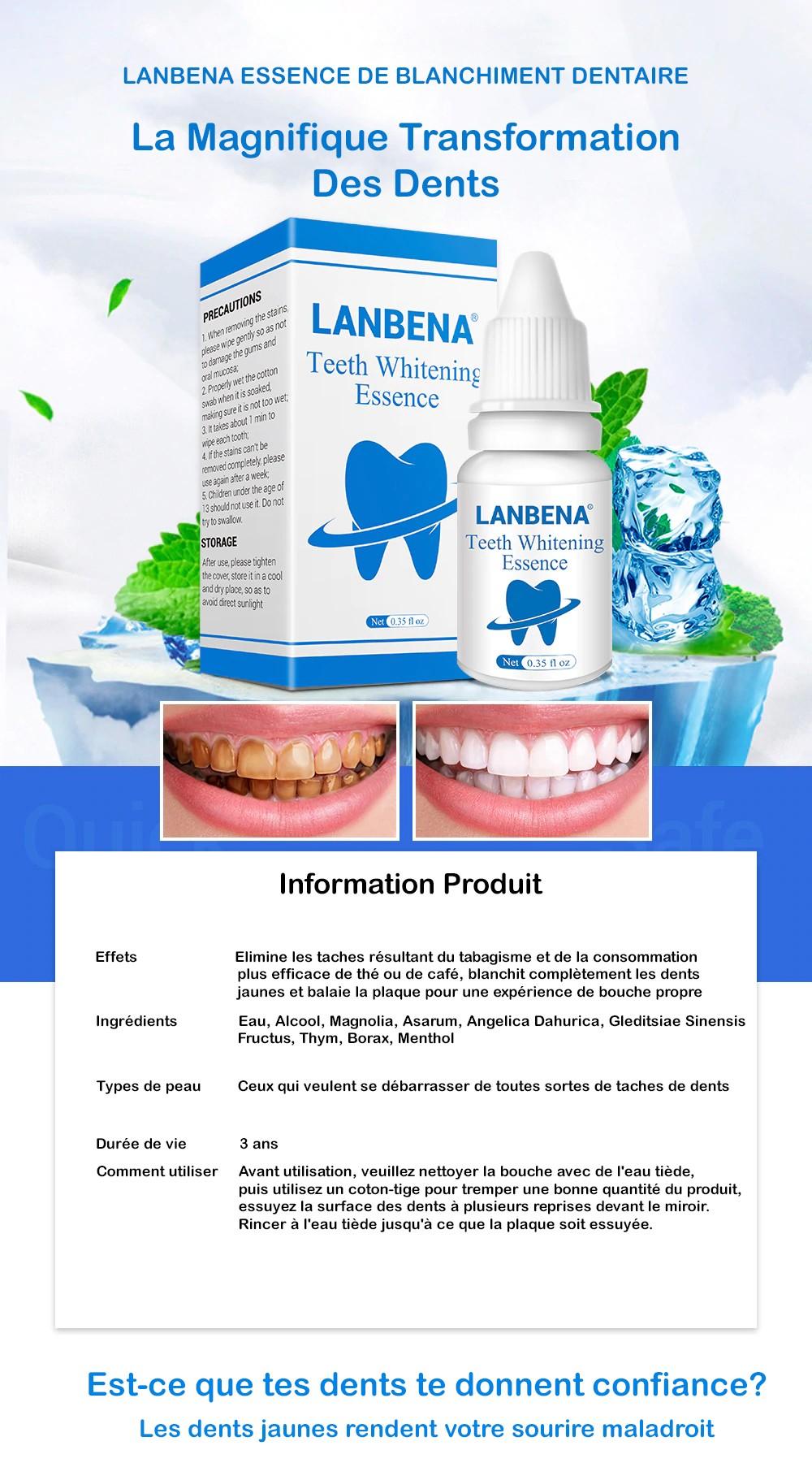 Lanbena Lanbena Dents Blanchissant Instantané Essence