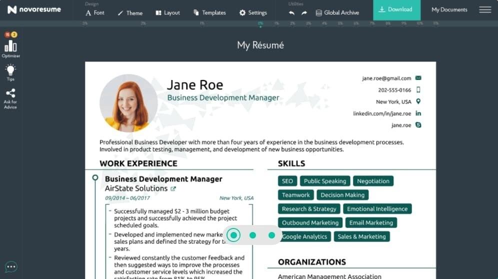 أفضل موقع مجاني لعمل سيرة ذاتية CV إحترافية
