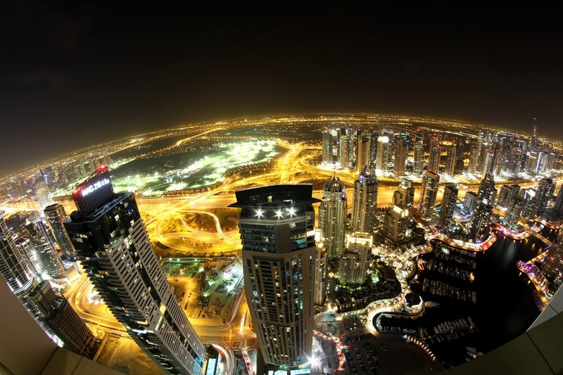 United_Arab_Emirates_Houses_Skyscrapers_Dubai_Night_From_above_Cities_2048x1365
