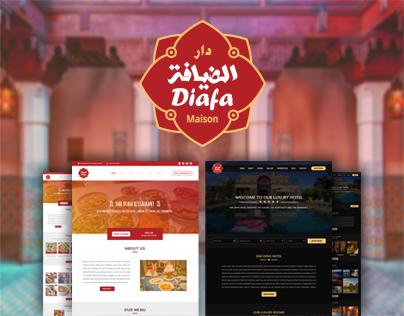 مشروع نهاية السنة: تصميم وتطوير موقع فندق و مطعم