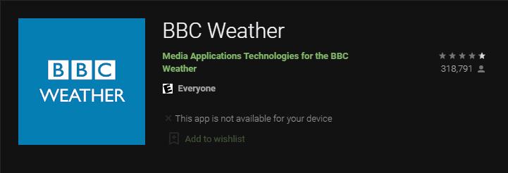 BBC Hava Durumu uygulamaları