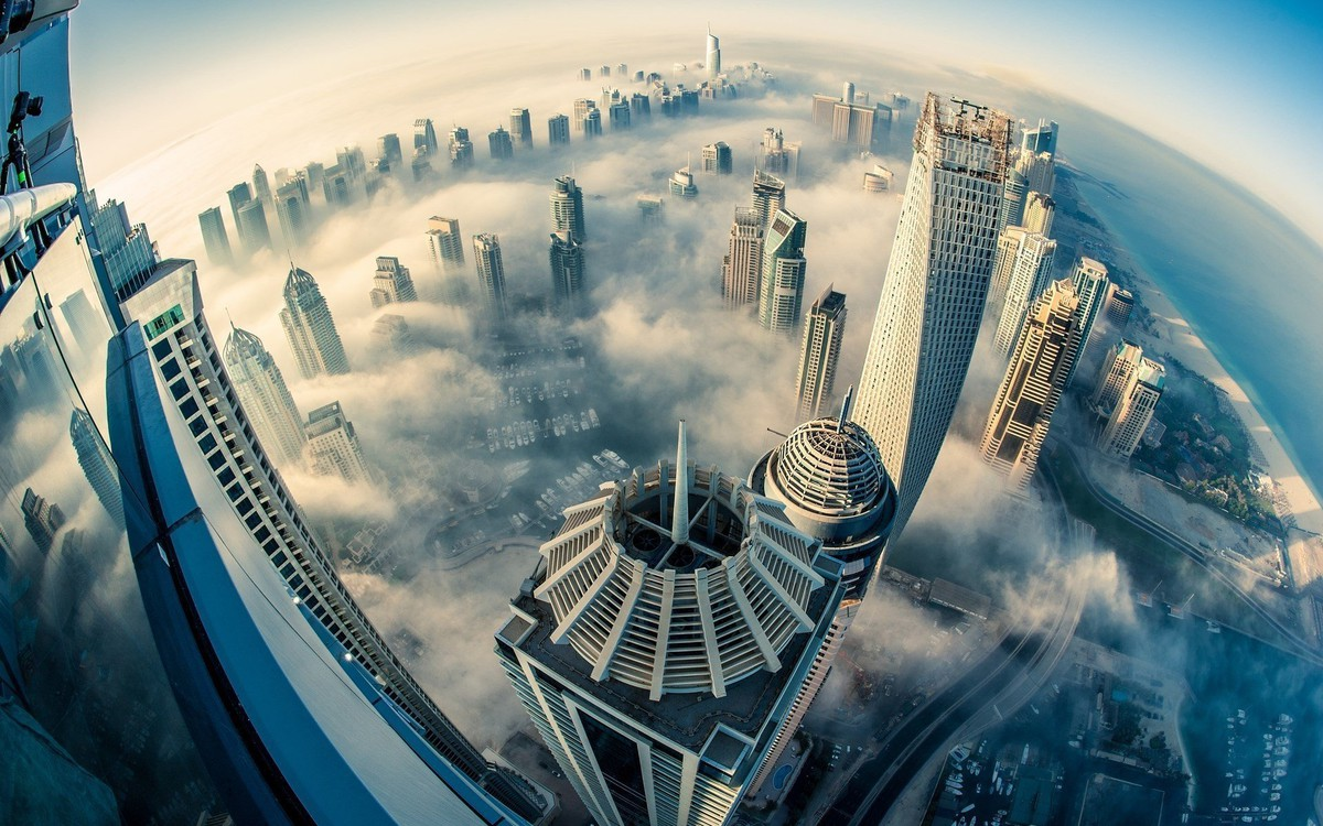 city dubai cloud fog building hd_1920x1200