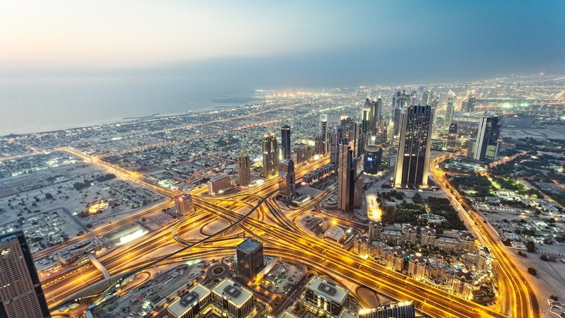 water_ocean_cityscapes_lights_cars_buildings_Dubai_glowing_skyscrapers_cities_Burj_Khalifa_man_made_p