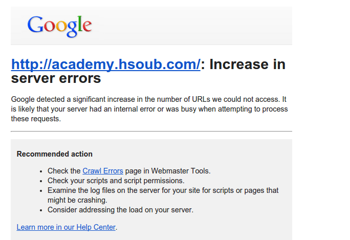 google-webmaster-tools-error