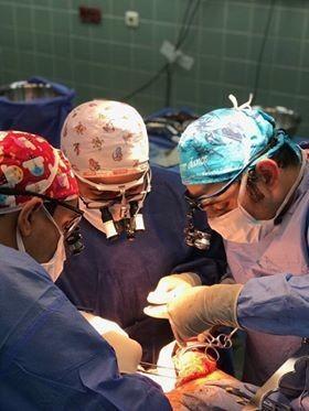 زراعه الكبد لمريضة بالمستشفى السعودي
