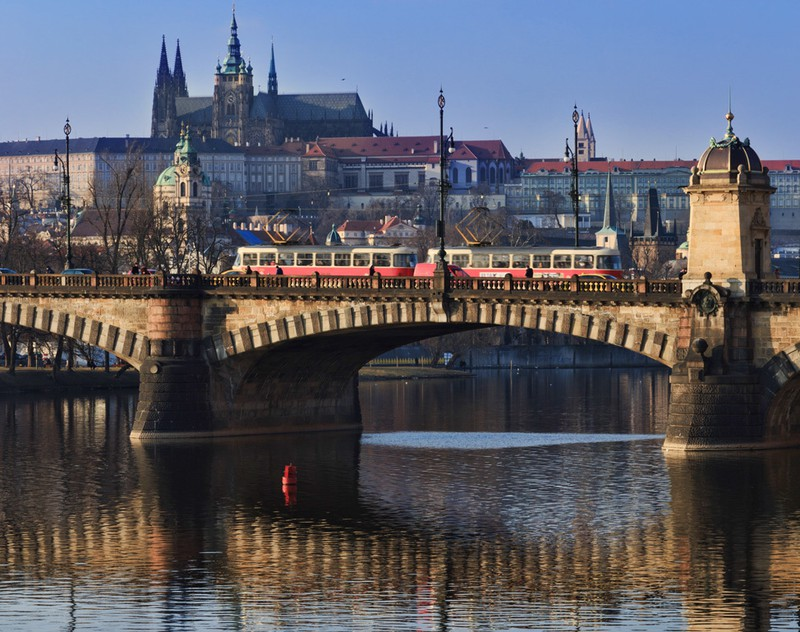 Prague-Bridge-Tram
