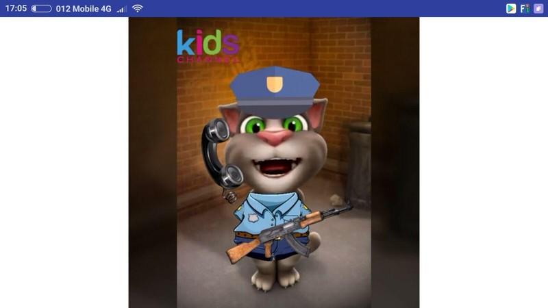القط توم شرطي الاطفال