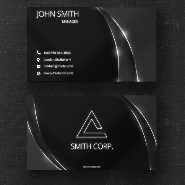 black-business-card-with-glossy-lines_1051-1368