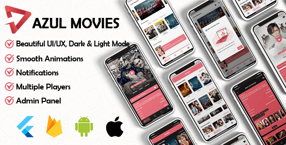 Movies App - Admin panel ( movies & series & tv shows...) Flutter - 1