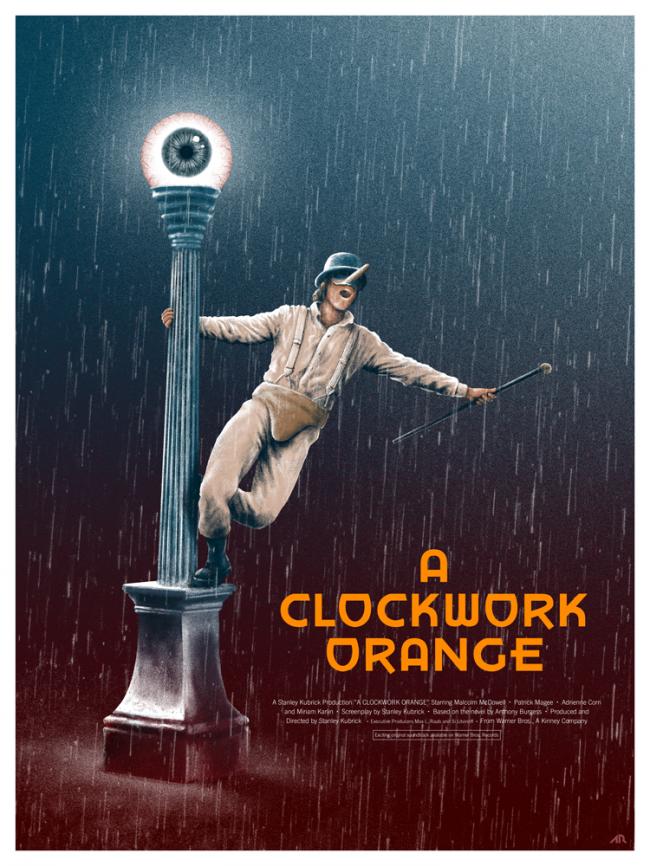 البرتقالة الآلية A Clockwork Orange .. تحفة فنيـة تثير الغثيـان